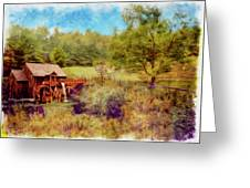 Grist Mill With Flowing Water Greeting Card