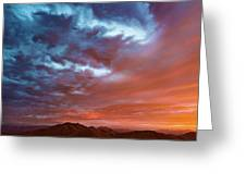 A Divided Sky At Sunset Greeting Card
