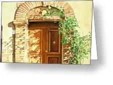 A Doorway In Tuscany Greeting Card by Bob Nolin