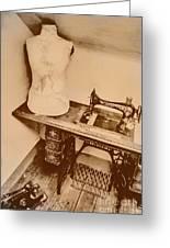 A Dressmakers Corner Greeting Card