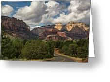 A Drive Through The Red Rocks  Greeting Card