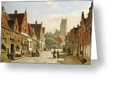 A Dutch Street In Summer Greeting Card