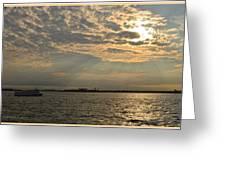 A Evening With Hudson River Greeting Card