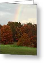 A Fall Rainbow Greeting Card