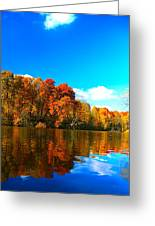A Fall Reflection Greeting Card