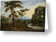 A Fantastic Countryside Around Rome Greeting Card
