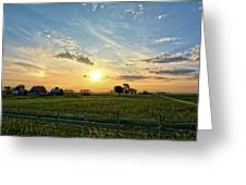 A Farmer's Morning 2 Greeting Card