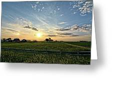 A Farmers Morning Greeting Card