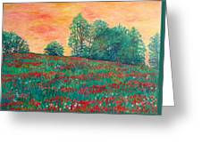 Field Of Beauty Greeting Card