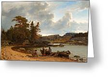 A Finnish Seascape Greeting Card