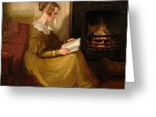 A Fireside Read Greeting Card
