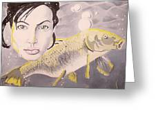 A Fish Named Angelina Greeting Card