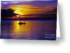 A Fisherman's Sunset  Greeting Card