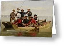 A Fishing Party Off Long Island Metal Greeting Card