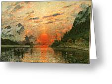A Fjord Greeting Card by Adelsteen Normann
