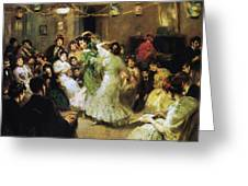 A Flamenco Party At Home Greeting Card