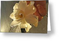 A Flower In Hand Beats.... Greeting Card