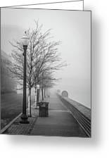 A Foggy Walkway Greeting Card