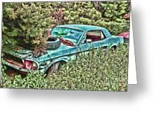 A Forgotten Mustang Greeting Card