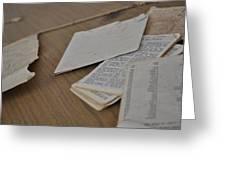 A Forgotten Text Greeting Card