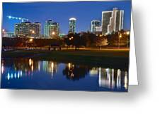 A Fort Worth Night Greeting Card