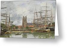 A French Port Greeting Card