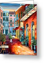 A French Quarter Evening Greeting Card