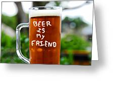 A Friendly Beer Greeting Card