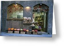 A Fruit And Vegetable Shop In Siena Greeting Card