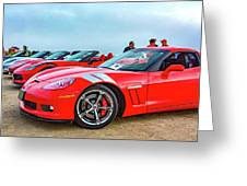 A Gaggle Of Vettes Greeting Card