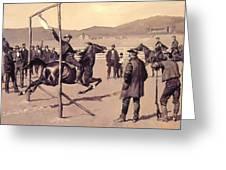 A Gander Pull 1894 Greeting Card