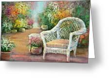 A Garden Chair Greeting Card