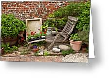 A Garden Corner Greeting Card