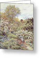 A Garden In Spring Greeting Card by Helen Allingham