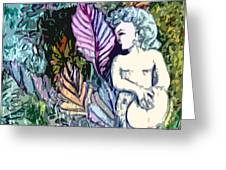 A Garden Muse Greeting Card