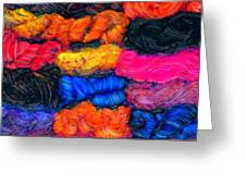 A Garden Of Yarn Greeting Card