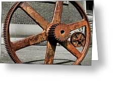 A Gear In A Gear Greeting Card