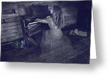 A Ghostly Tune Greeting Card