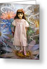 A Girl And A Seven Fairies 2 Greeting Card