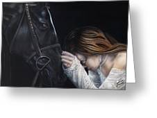 A Girl Who Loves Horses Greeting Card