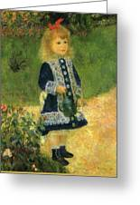 A Girl With A Watering Can 1876 Greeting Card