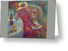 A Glass Of Red Greeting Card