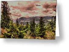 A Glimpse Of The Mountains Greeting Card