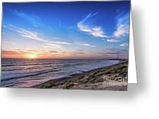 A Glorious Sunset At North Ponto, Carlsbad State Beach Greeting Card