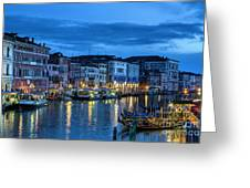 A Glowing Venice  Evening Greeting Card
