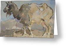 A Goat By Joseph Crawhall 1861-1913 Greeting Card