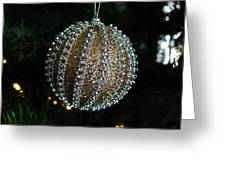 A Gold Orb- Horizontal Greeting Card