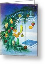 A Gourmet Cover Of Marzipan Fruit Greeting Card