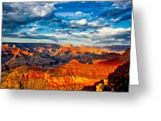 A Grand Canyon Sunset Greeting Card