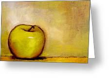 A Green Apple Greeting Card
